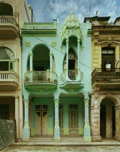 Doors and windows in Havana, Cuba