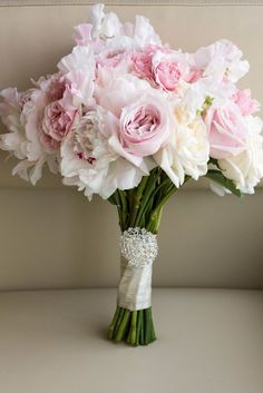 Featured Photographer: 5ive15ifteen, Via Rebecca Chan Weddings & Events; Classic pink and white wedding bouquet