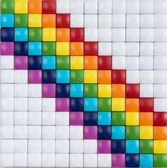 #ideeën #doe-het-zelf #knutselen #pixelhobby #pixelen #hobby #inspiratie #rainbow #regenboog #vrolijk Loom Patterns, Beading Patterns, Cross Stitch Patterns, Pixel Crochet Blanket, Safety Pin Crafts, Cross Stitch Beginner, Graph Design, Diamond Paint, Easy Arts And Crafts