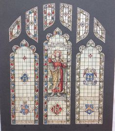#StainedGlass design watercolour sketch by Florence Camm lot 27 in our Stained Glass Art & Design #auction this Weds. View full catalogue at townsend-auctions.co.uk  #religiousart #historicart #stainedglassart
