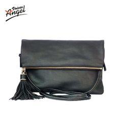 $8.99 (Buy here: https://alitems.com/g/1e8d114494ebda23ff8b16525dc3e8/?i=5&ulp=https%3A%2F%2Fwww.aliexpress.com%2Fitem%2F2016-Famous-Brands-Women-Leather-Handbags-Designer-Women-Bag-Clutch-Bag-High-Quality-Shoulder-Messenger-Bags%2F32648582822.html ) Luxury Handbags Women Bags Designer 2016 Tassel Women Messenger Bags Famous Brand Small Fold Over Crossbody Bag For Women Black for just $8.99