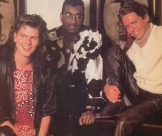 Awe John with 2 musical Angels the late Tony Thompson and the coolest man of Rock n Roll the late Mr. Robert Palmer.❤️