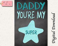 Papa Super Star devis imprimable - A4