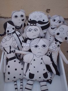 my chocha dolls by FabLAB Atelier, via Flickr