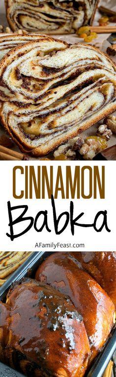 Cinnamon Raisin Swirl Babka - It's actually easy to make this incredible babka! Process photos included in recipe.