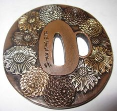 Exquisite Tsuba Flower,Solid Copper Japanese Samurai SwordJapanese ARTMore Pins Like This At FOSTERGINGER @ Pinterest