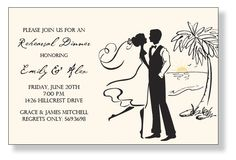 beach wedding engagement invite