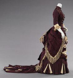 c. 1880. American. Silk, cotton. metmuseum