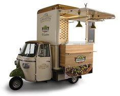 Ideas Food Truck Design Piaggio Ape For 2019 Food Cart Design, Food Truck Design, Food Truck Manufacturers, Coffee Food Truck, Mobile Coffee Shop, Mobile Food Cart, Velo Cargo, Food Truck Business, Food Business Ideas