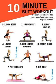10 minute - butt workout