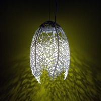 The Hyphae lamp is a series of organic pendant lamps based on how veins form in leaves. - Nervous System