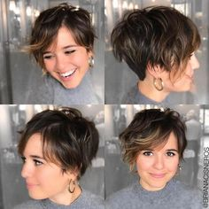 Short Hairstyles With Bangs For Fine Hair - Thin Hair Cuts Wavy Pixie Haircut, Bob Hairstyles For Fine Hair, Hairstyles For Round Faces, Pixie Haircuts, Teenage Hairstyles, School Hairstyles, Pixie Bob, Style Short Hair Pixie, Fat Face Short Hair