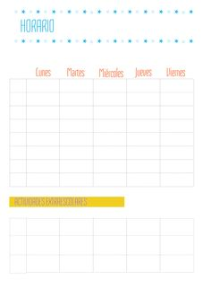 Horario de clases para imprimir ✿⊱╮Teresa Restegui http://www.pinterest.com/teretegui/✿⊱╮