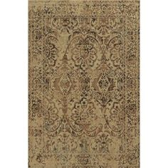 Rizzy Home Tan/Brown Runner Rug In Polypropylene 3'3 inch x 5'3 inch