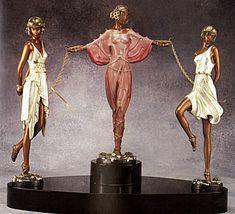 Art Deco Sculpture  Printemps by Erte