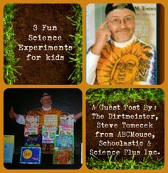 3 Fun #ScienceExperimentsforKids by #TheDirtmeister at @ABCmouse #kidsactivites  http://www.thegirlfromasmallvillage.com/3-fun-easy-science-experiments-for-kids/
