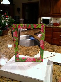 love: Craft of the Week: Mod Podge Lilly Pulitzer Picture Frame