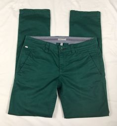 Women's Horny Toad Forest Green Chino Straight Leg Pants With Rear Flaps 6  | eBay