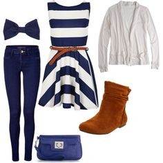 Stripes, created by misskat05 on Polyvore