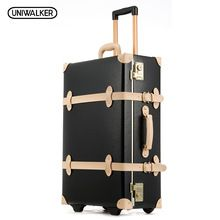 20 22 24 inches Cow Leather Trolley Bags Men Travel Hand Luggage Rod Box Fashion Waterproof Cowhide Suitcase Bag With TSA Lock //FREE Shipping Worldwide //