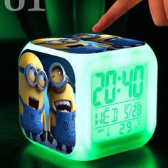 LED 7 Color Flash Digital Alarm Clock