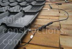 dak met geintegreerde zonnecellen