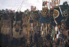 ukpuru:  Igbo mask dancers performing during the Onwa Asaa...