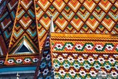Roof tiles of the Matthias Church in Budapest