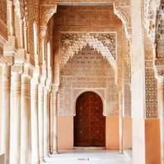 No visit to Andalusia is complete without a trip to the Alhambra and Generalife. This stunning palace complex and gardens could take a lifetime to explore fully.  Every room is dripping with decoration and covered with meticulous carvings. This particular corridor opens onto the Patio de los Leon...