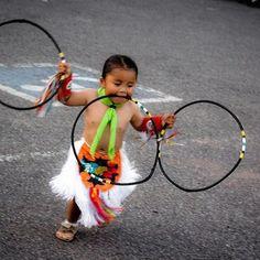 Future Champion Native American Hoop Dancer :)