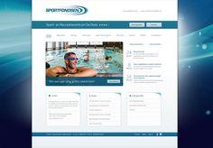 Sportfondsen. webdesign, verzorgd door Reclamebureau Holland.
