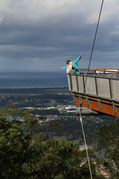 Living life on the edge at Sealy Look out in Coffs Harbour, Australia