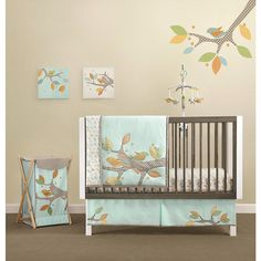 "gender neutral birdies     MiGi Little Tree 3 Piece Crib Bedding Set - Bananafish - Babies ""R"" Us"