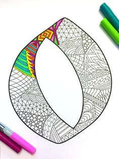 Letter O Zentangle  Inspired by the font Deutsch Gothic by DJPenscript