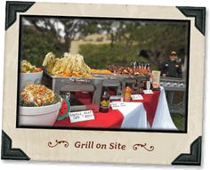 Nice way to lay tablecloth when not possible to get checked table cloth. Wedding Bells, Our Wedding, Disneyland Birthday, Smokehouse Bbq, Photography Ideas, Wedding Photography, Bbq Catering, Smoke Bbq, Haunted Halloween