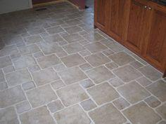White Tile Floor Kitchen Pattern Tile Porcelain