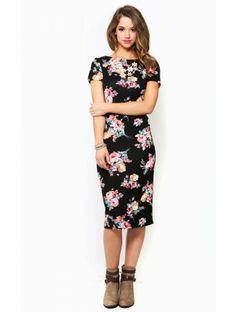 Daring Blossoms Midi Dress: Love it