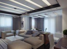 modern living room apartment contemporary with cream sofa