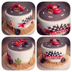 Cars Flash Mcqueen cake - Gâteau Cars Flash McQueen - Une affaire de desserts Marseille