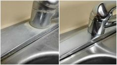 If hard water stains are ruining the look of your kitchen sink, then you'll want to be in on this home remedy trick discovered by Crouton Crackerjacks. With the help of just 1 ingredient, you'll be able to bring your dingy, grungy sinks back to their. Cleaning Solutions, Cleaning Hacks, Cleaning Routines, Cleaning Checklist, Cleaning Products, Dirty Kitchen, Kitchen Cleaning, Kitchen Hacks, Hard Water Stains