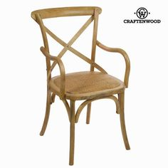 Wooden chair with arms by Craftenwood