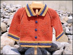 Knit the Top Down Hurdy Gurdy with 3 of your favourite colours. The Hurdy Gurdy is available as a leaflet (PDFdownload) and as one of the patterns in the Baby V book (available in print or as a download).