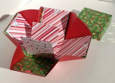 Explosion Box, Christmas Explosion Box by tangledmoons on Etsy