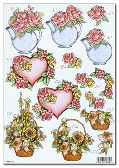 Die Cut 3D Decoupage A4 Sheet - Romance/Floral/Mothers Day (875) - £1.15 : Card Making + Scrapbooking Craft Supplies