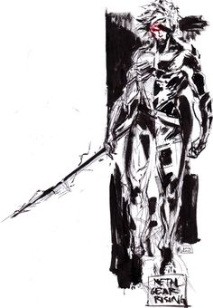 Fast sketch. Shinkawa style obsession Metal Gear Rising coming soon 50 downloads!