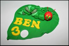 The Very Hungry Caterpillar Cake topper by Naomi's Shaken & Baken, Caboolture, Queensland, Australia. You'll find this Cake Appreciation Society Member in our Directory at www.cakeappreciationsociety.com