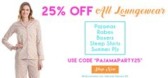 """Win """"Best Dressed"""" at your next pajama party and save $$ during our loungewear sale Feb 6th-8th, 2017. Missed the sale? Click for our deal of the day!"""