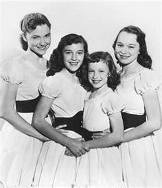 The Lennon Sisters: Who can forget Lawrence Welk.. Every Saturday night we would all gather around the tv and be glued to it for that hour. I still watch the old shows once in a while. Do you remember when Alice Lon or Long was fired because she showed her knees? Things were very different then. I think we were 10 or 11 year's old.