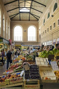 """Vettovaglie market in Livorno, better known as the """"Central Market"""" is a landmark for the city's food scene. It was built in 1894 and is one of the largest indoor markets in Europe."""