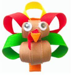 Turkey, Thanksgiving, thanksgiving craft, craft, ribbon turkey, ribbon animals, ribbon crafts, fall,